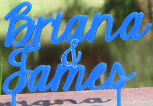Custom Name Wedding Cake Topper www.tinytulip.com