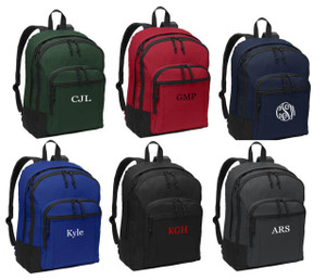 Solid Classic Monogrammed Backpack www.tinytulip.com