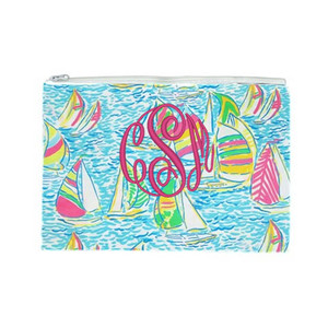 Lilly Pulitzer Monogrammed Pencil Cosmetic Case You Gotta Regatta