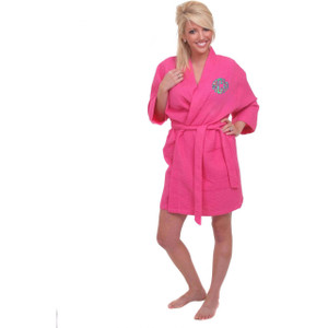 Monogrammed Lilly Pulitzer Applique Waffle Weave Robe www.tinytulip.com