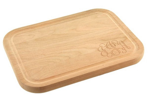 Monogrammed Wooden Cutting Board  www.tinytulip.com Interlocking Font