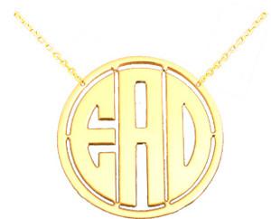 Circle Monogram Cut Out Necklace  www.tinytulip.com