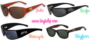 Monogrammed Engraved Sunglasses  www.tinytulip.com