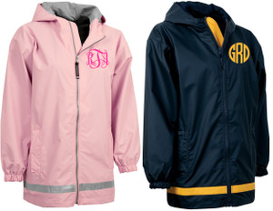 Monogrammed Raincoat Windjacket Youth   www.tinytulip.com