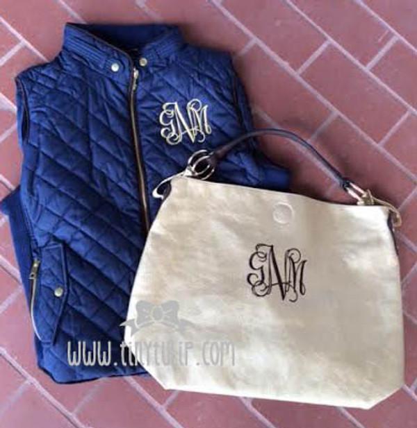 Monogrammed Mackenzie Bag www.tinytulip.com