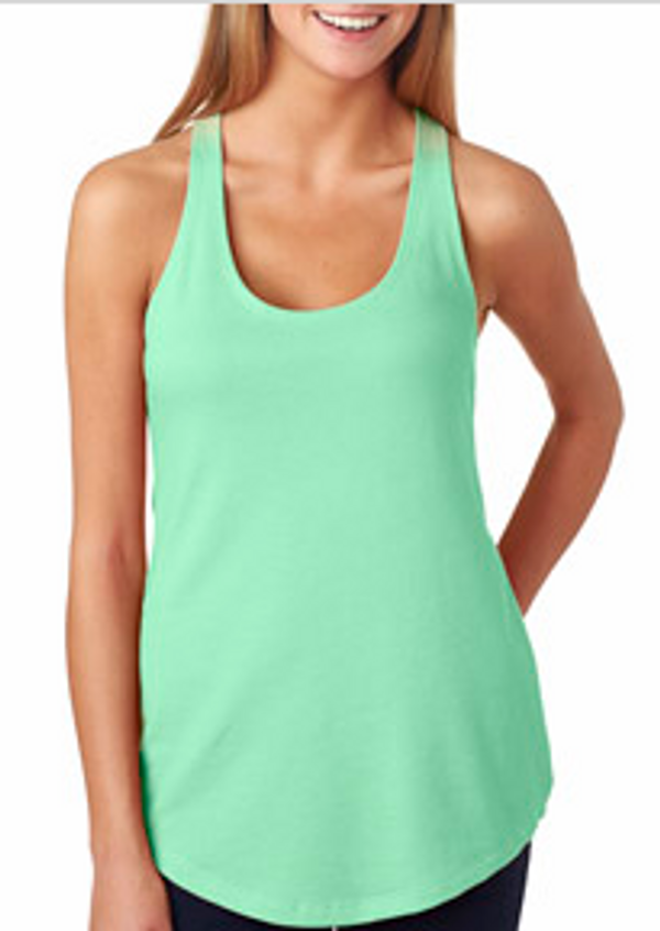 Monogrammed Solid Racerback Tank www.tinytulip.com Front View Mint