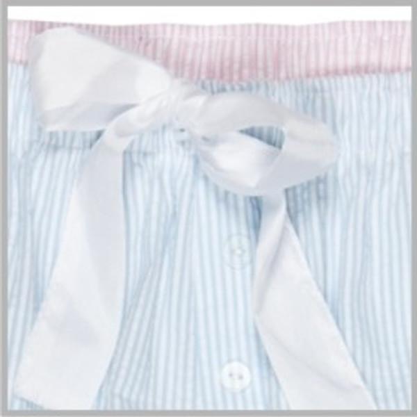 Monogrammed Seersucker Lounge Pajama Pants  www.tinytulip.com