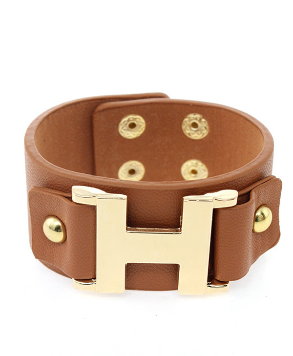 Faux Leather Wrap Bracelet Free Shipping www.tinytulip.com Brown