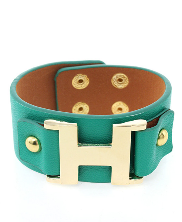 Faux Leather Wrap Bracelet Free Shipping www.tinytulip.com Teal