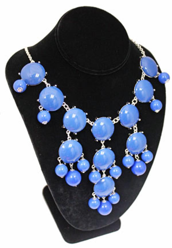 Bubble Bib Fashion Necklace Free Shipping www.tinytulip.com Blue