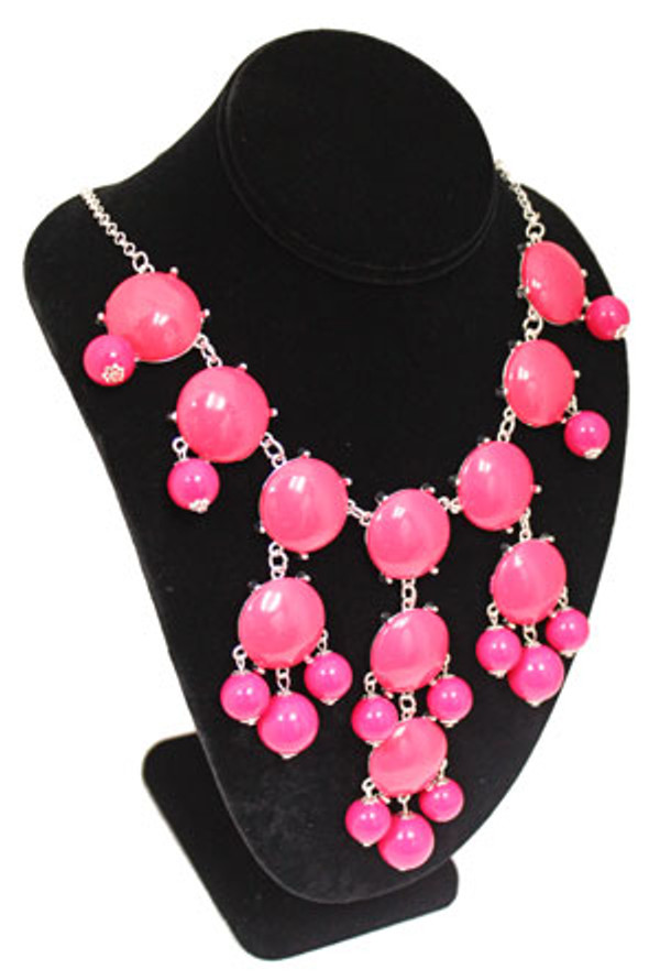 Bubble Bib Fashion Necklace Free Shipping www.tinytulip.com Fushia