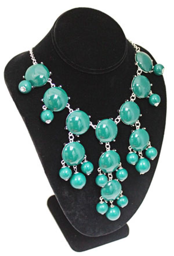 Bubble Bib Fashion Necklace Free Shipping www.tinytulip.com Teal