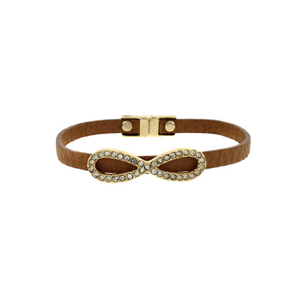 Infinity Faux Leather Bracelet Free Shipping www.tinytulip.com Brown