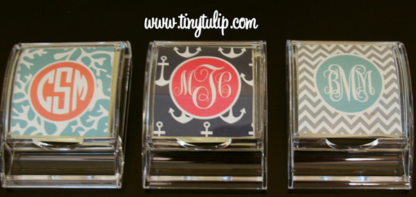 Monogrammed Post It Note www.tinytulip.com
