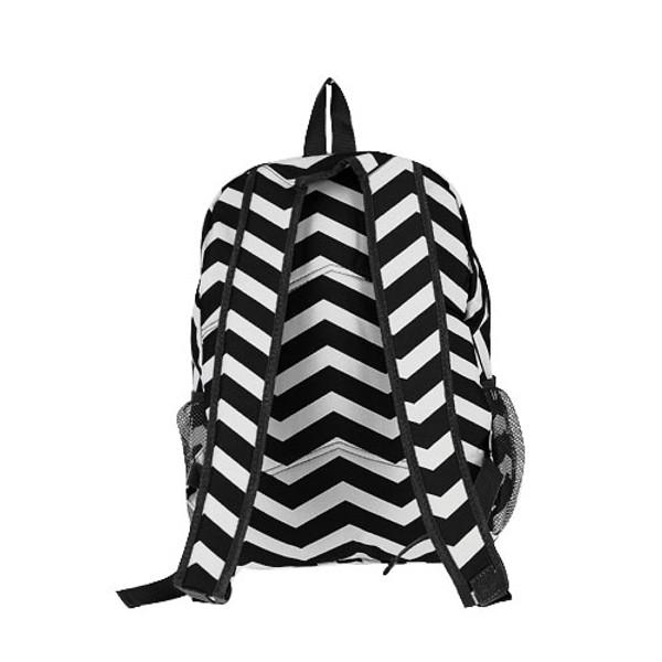 Monogrammed Chevron Print Backpack www.tinytulip.com Black