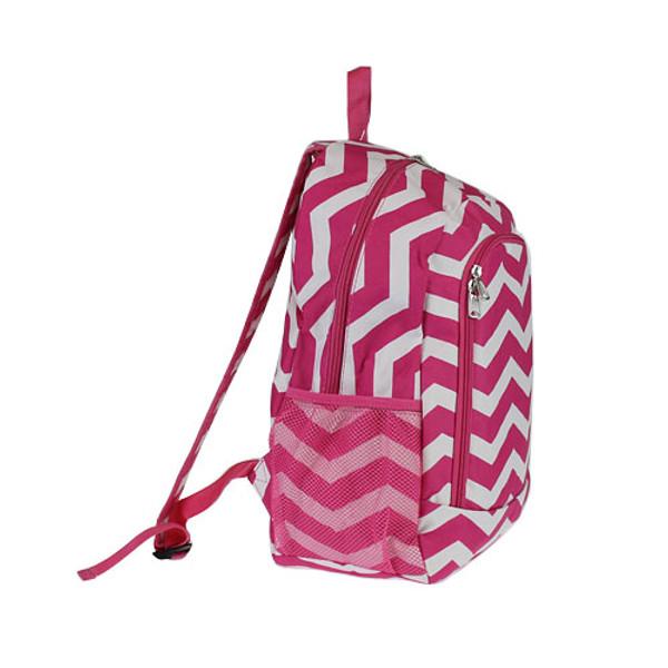 Monogrammed Chevron Print Backpack www.tinytulip.com Hot Pink