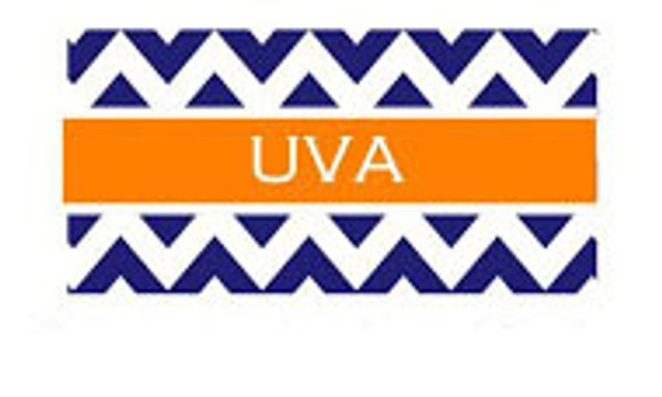 Monogrammed Leather Sandals & Slides www.tinytulip.com Navy Chevron with