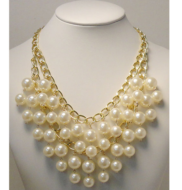 Stacked Pearl Necklace www.tinytulip.com