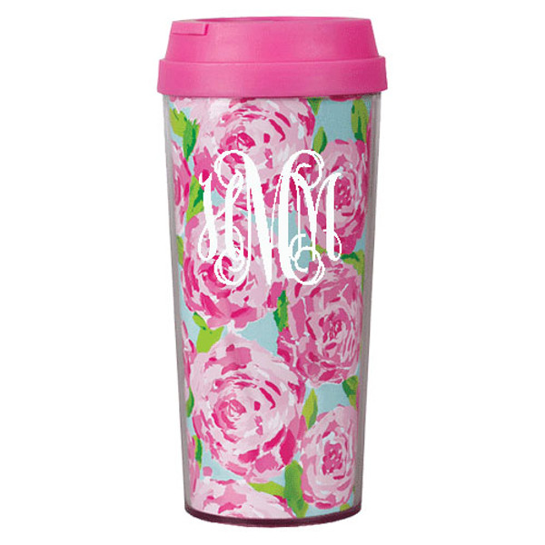 Lilly Pulitzer Monogrammed Thermal Mug www.tinytulip.com First Impression