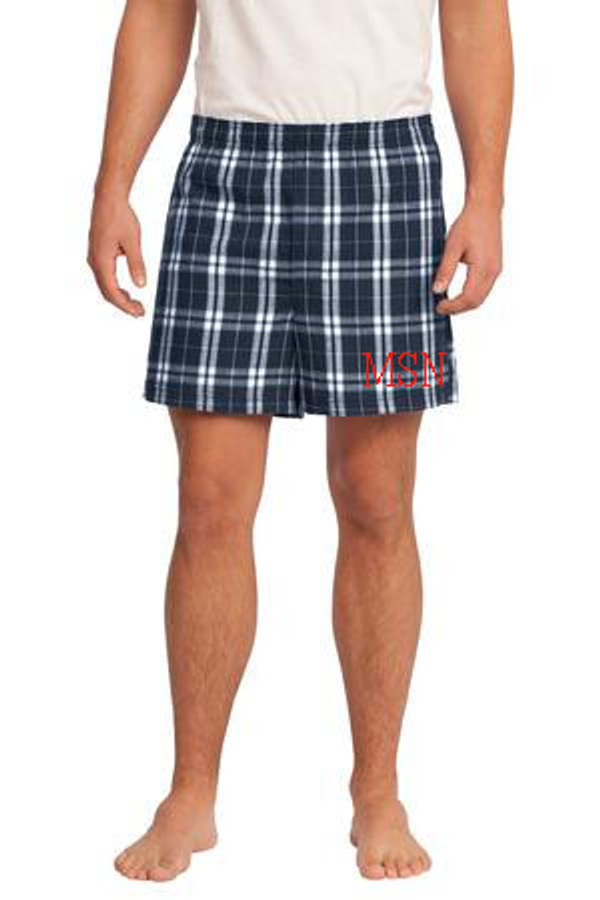 Monogrammed Flannel Plaid Boxers