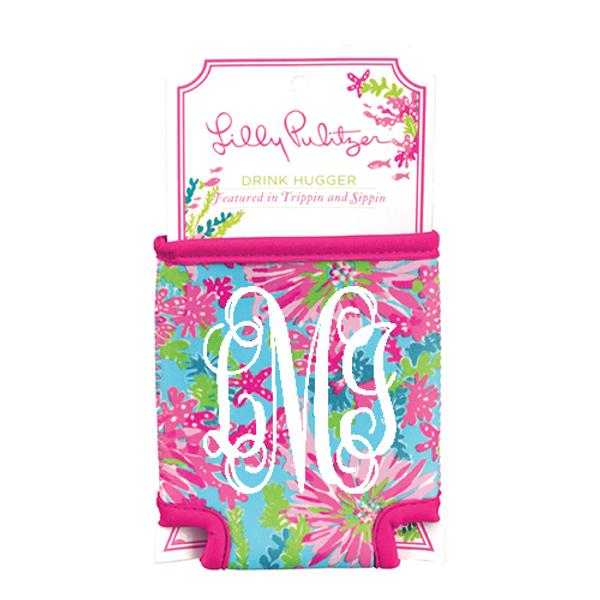 Monogrammed Lilly Pulitzer Can Koozie www.tinytulip.com Trippin and Sippin