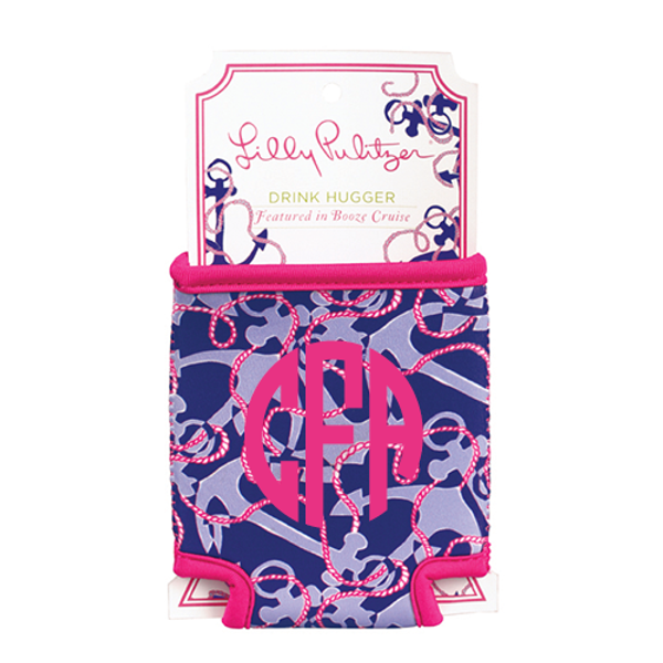 Monogrammed Lilly Pulitzer Can Koozie www.tinytulip.com Booze Cruise