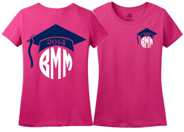 Monogrammed Graduation Tshirt www.tinytulip.com