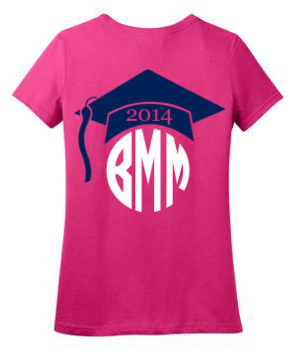 Monogrammed Graduation Tshirt