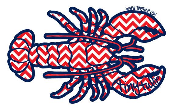 Tiny Tulip Preppy Stickers Chevron Lobster  www.tinytulip.com