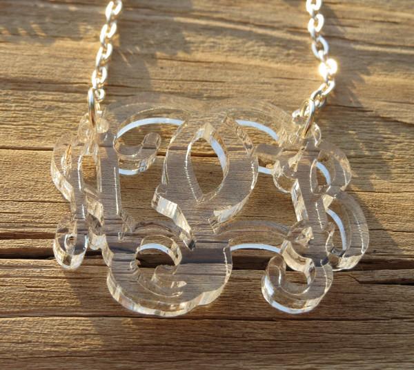 Floating Acrylic Monogram Necklace