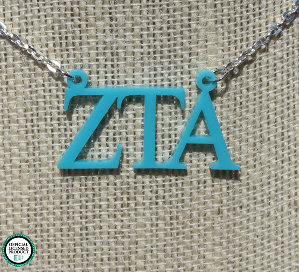 Greek Floating Letters Necklace www.tinytulip.com