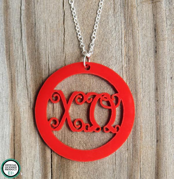 Greek Script Pendant Necklace