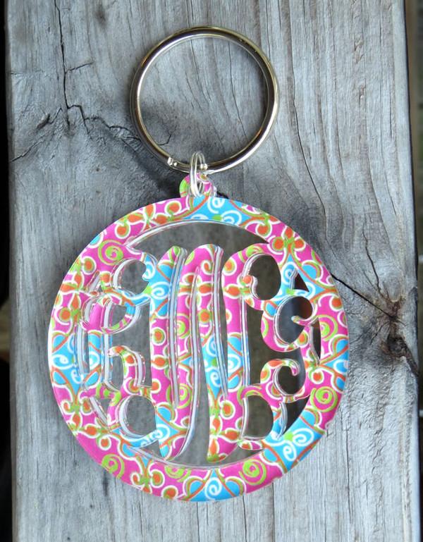Mary Beth Goodwin Layered Circle Monogram Keychain