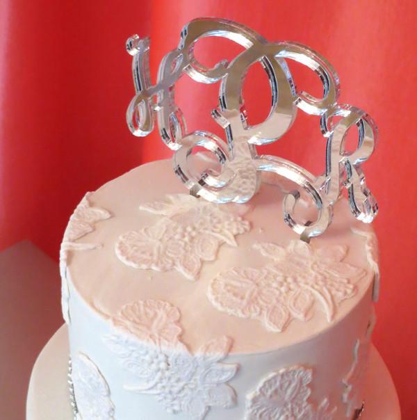 Monogram Cake Topper www.tinytulip.com