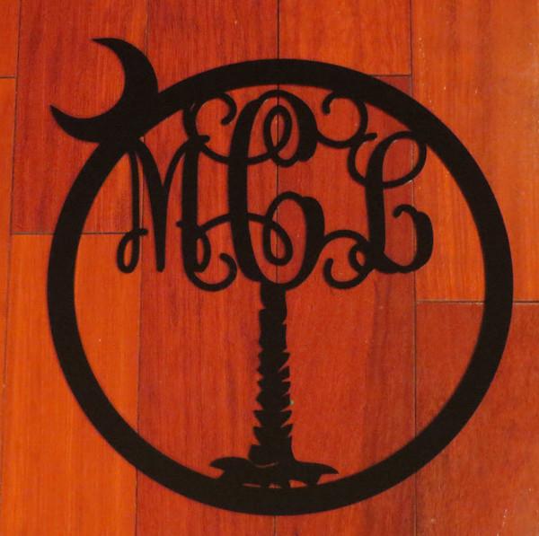 Palmetto Tree Monogram Wall Hanging www.tinytulip.com