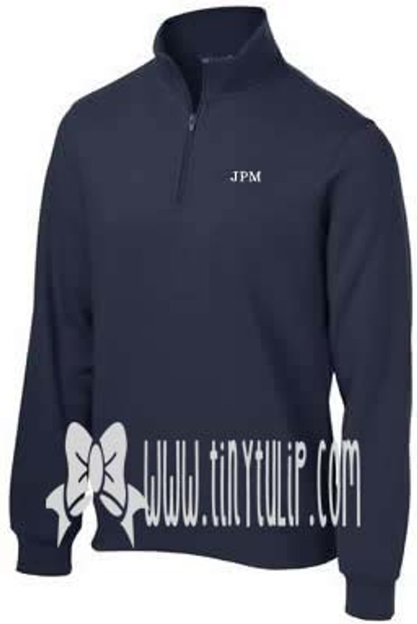 Mens Monogrammed Quarter Zip