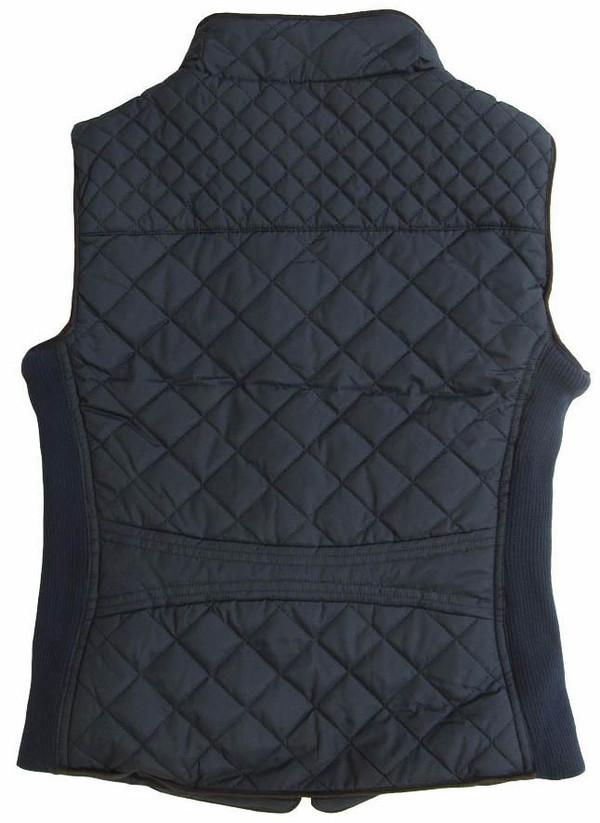Monogrammed Navy Quilted Vest www.tinytulip.com