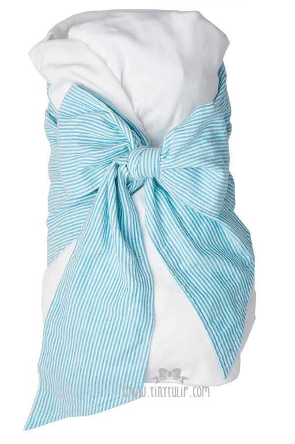 Monogrammed Seersucker Swaddle Blankets
