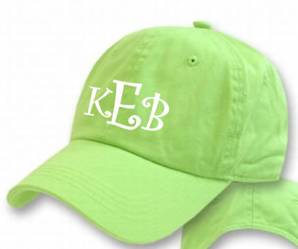 Lime Green with White Curly Font