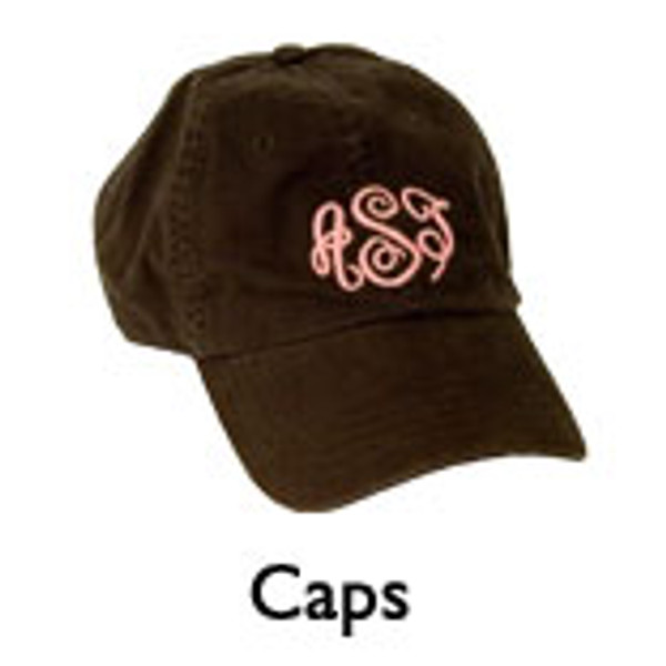 Chocolate Brown Cap with Pink Empire Monogram