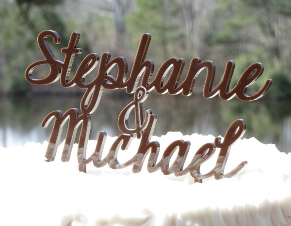 Custom Name Wedding Cake Topper www.tinytulip.com