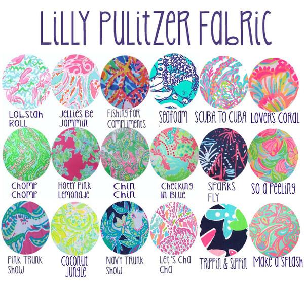 Lilly Pulitzer Monogrammed Seersucker Bandeau Bathing Suit