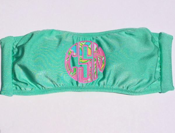 Lilly Pulitzer Monogrammed Bandeau Bathing Suit www.tinytulip.com
