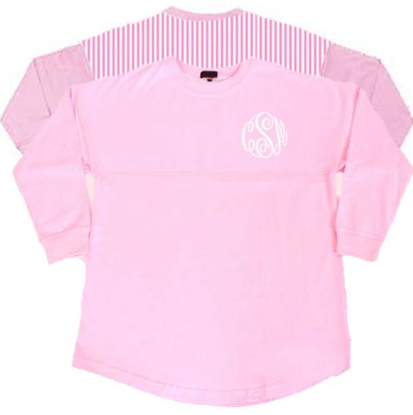 Monogrammed Pink Seersucker Seaside Shirt  www.tinytulip.com