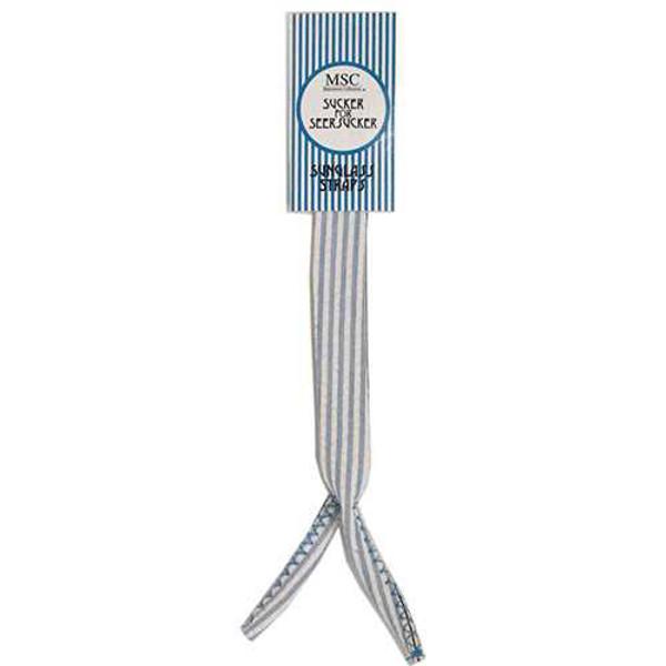 Monogrammed Blue Seersucker Sunglass Strap www.tinytulip.com