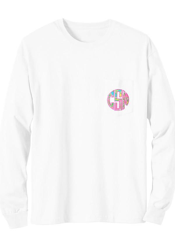 Lilly Pulitzer Long Sleeve Monogrammed Pocket T Shirt www.tinytulip.com