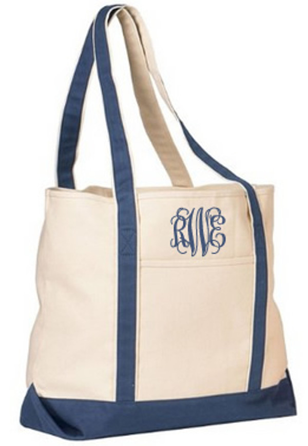 Heavy Duty Canvas Tote Monogrammed