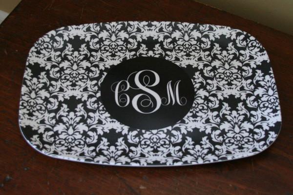 Personalized Melamine Platter  ~ Monogrammed - www.tinytulip.com