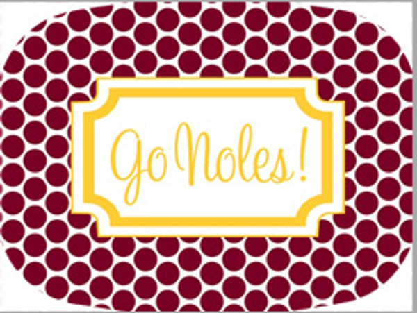 Personalized Melamine Platter  ~ Monogrammed - www.tinytulip.com Garnet Polka Dots with Yellow Classic Frame Cursive Fonts