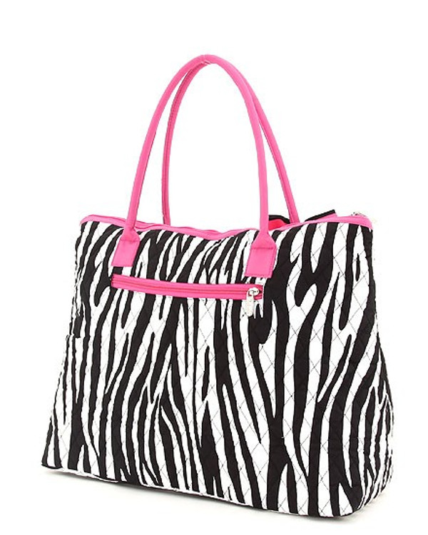 Monogrammed Zebra Quilted Tote  www.tinytulip.com